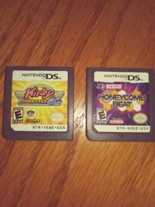 "Used ""Kirby Super Star Ultra and Honeycomb Beat"" for DS"