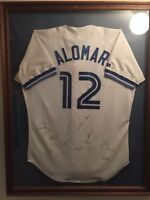 Alomar jersey signed by entire 1992 blue jays