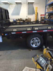 2015 truck deck, fold down sides, built in light,and hitch