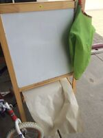 IKEA easel and paint smock