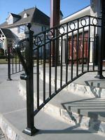 Steel railing - on site customization and repair