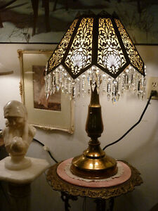 *!*!*!*!**ANTIQUE BRASS TABLE LAMP**!*!*!*!*