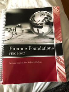Finance Foundations Office Admin Text Book Mohawk College