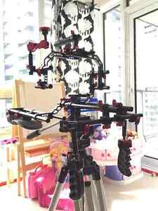 Camera rig for Canon 5D, Sony A7 or GH4