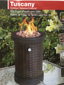 Tuscany Outdoor Desktop Fire Bowl / Brand New In Box NEVER USED