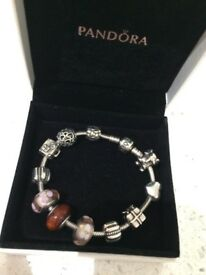 Pandora Bracelet with charms in box