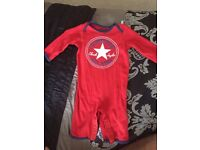 Red Converse baby outfit