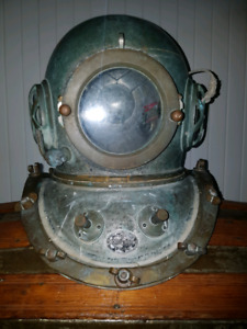 Kimara, diving helmet, dive, diving, casque de plongée, antique