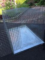 Grande cage pour reproduction moyen perroquets avec 2 perchoirs