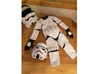 Disney store storm trooper outfit age 3 with trick or treat bag