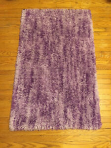Small Purple Shag Rug