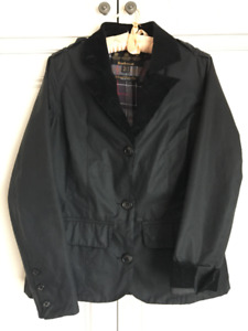 Authentic Barbour blazer style wax jacket- Size 4 (US), (UK-8)