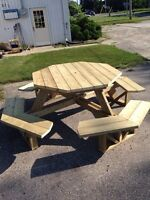 Octagon picnic tables