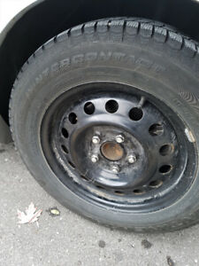 Continental Extreme Winter Contact 195 65 15 w/ Rims