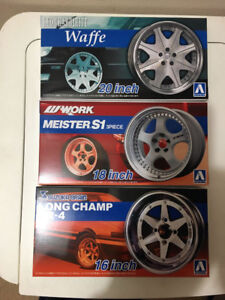 Aoshima, Fujimi, Hasegawa & Tamiya Car Model Kits For Sale
