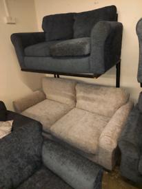 Velvet SOFA. Arm Chairs £100. 2 seater £150. 3 seater £200. Ex display