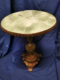 Onyx and gilt effect side table.