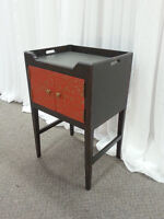 Stylish Side Table - Stenciled w slight Distressing  - Listowel