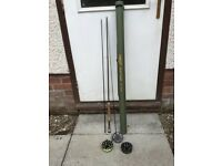 Airflow Delta Classic Rod in case with reel and 2 spools