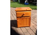 Pine bedside cabinet, * upcycle oportunity*