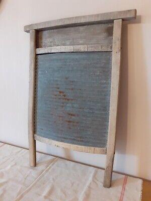 Ancienne planche à laver en zinc - Vintage washing board
