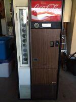 Complete working vintage coke machine