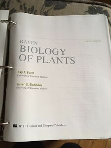 Biology of plants Evert and Eichorn 8th edition