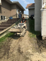 "Walk behind bobcat - only 38"" needed for clearance"