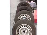 Vw t5 wheels and tyres x4