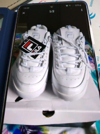 Brand new mens genuine leather fila trainers size 8