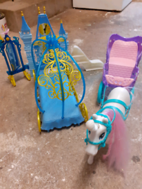 Princess bed and horse& carriage.