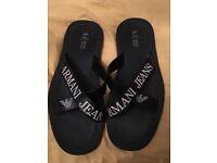 Men's Armani flip flop/sandals size 9