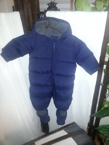 Gap Infant Boys  6-12 months 'Warmest' Down Snowsuit