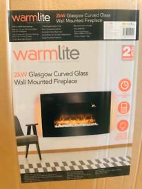 Warmlite Glasgow curved fire