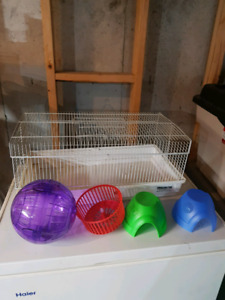 Hamster cage and accesories