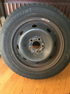 Steel Rims 195/60 R-15  with Michelin Winter Tires