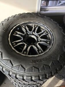 "FORD DIESEL 18"" RIMS & LT 325/65/18 HANKOOK DYNAPRO MT TIRES"