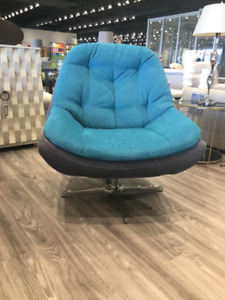 SWIVEL ACCENT CHAIRS - VERY CUSHY - MADE IN EUROPE