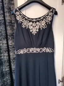 Monsoon Embellished Evening Dress (size 10)