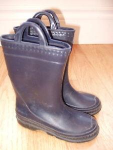 Kids Rain Boots - Navy Blue, Size 12