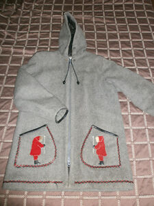 Vintage James Bay 100% Wool Parka with Hood
