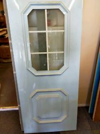 White door panel
