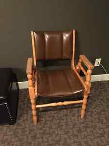 maple upholstered office sitting chairs (2)
