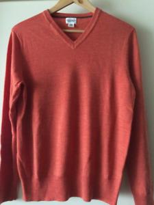 Club Monaco Orange Italian Yarn Sweater Men's Small