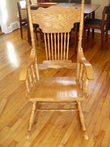 Wood Rocking Chair Good Used Condition