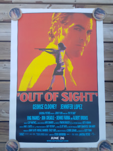 Out of Sight - George Clooney Jennifer Lopez - Movie Poster