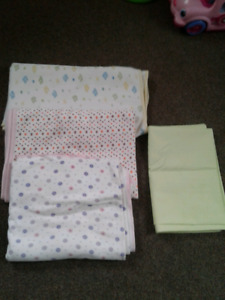 FREE!!! Large Burp Blankets (3) and Brand New Playpen Cover