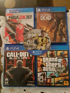 nba 2k18, the walking dead, gta 5 and call of duty black ops 3