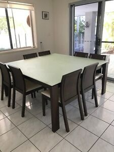 Dining table square setting suite seats 8 Aspley Brisbane North East Preview
