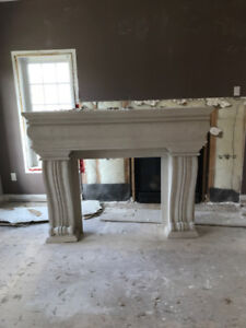 Plaster Fireplace Mantle